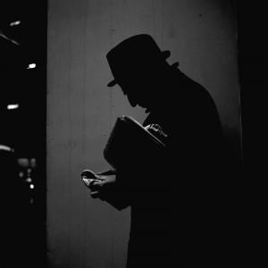 Vivian Maier, Chicago (Man's Silhouette), April 17, 1968