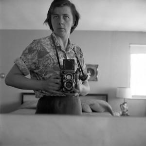 Vivian Maier, Highland Park, IL (Self-Portrait, Bedroom Mirror), January 1965