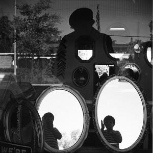 Vivian Maier, North Suburbs, Chicago (Self- Portrait, Storefront Window Reflection), 1968