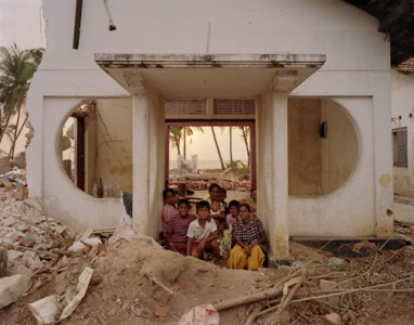 "Wyatt Gallery, Family Portrait in Doorway of their Home, 2005, Southwest Coast, Sri Lanka, from the series ""Where Do We Go From Here? The Aftermath of the Tsunami"" Digital Light Jet C-Print"
