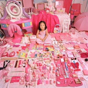 Jeongmee Yoon, Pink Project - Yehyun and Her Pink Things, 2005 Digital C-Print