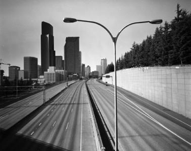 Steve Luke Hanson, Empty Freeway #3517 , 2006, Gelatin Silver Print