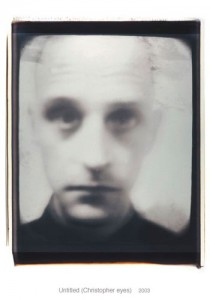 Diane Fenster, Untitled, Christopher Eyes, Polaroid Print