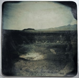 Rosanna Salonia Crater elegante, pinacate, Mexico, manipulated gelatin silver prints, beeswax coated