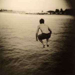 Shannon Welles Over the Sea 2005, Lith print, beeswax