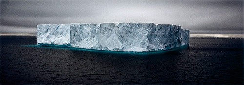 Camille Seaman, Giant Tabular Iceberg, Weddell Sea, Antarctica, 2005   next »