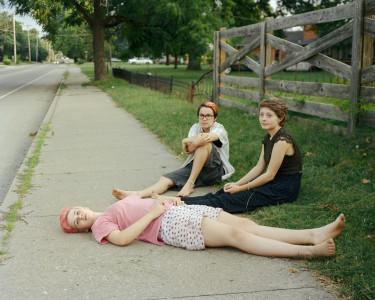 Elise Kirk, Sidewalk, Road Watching, 2014 (best for web)