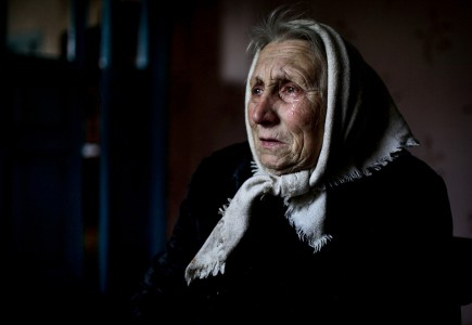 Diana Markosian, Lida Masconovitz, 74, weeps as she recalls the moments after she learned about Chernobyl