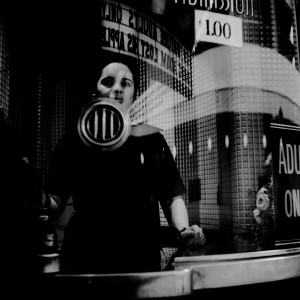 Vivian Maier, Chicago (Ticket Booth), 1968