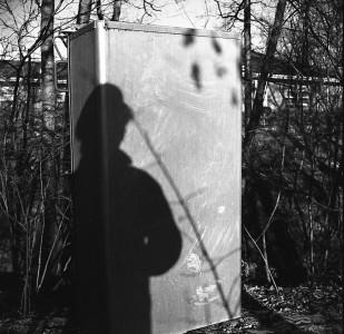 Vivian Maier, Chicago Area (Vivian's Shadow on Electric Box), 1965