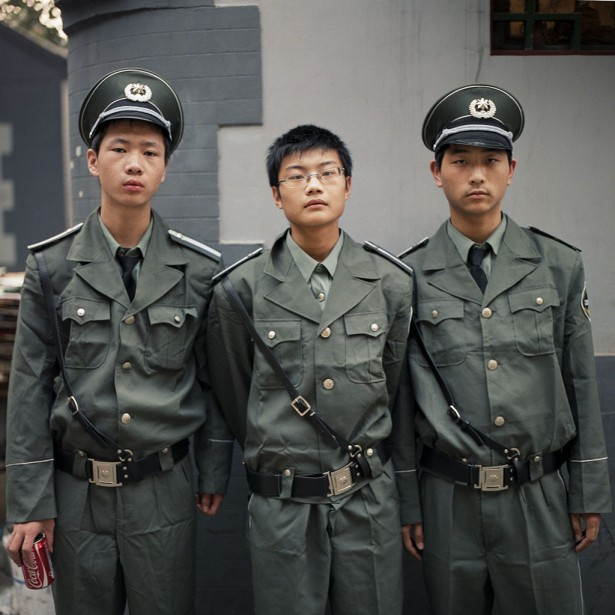 Chip Rountree, Security Guards, Beijing, 2009