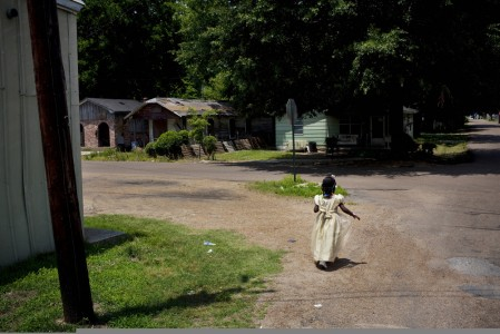 Matt Eich / LUCEO, Dialia walking home from church, Greenwood, MS, 2010