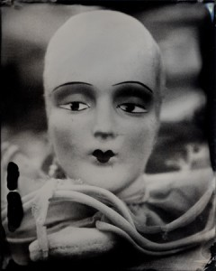 Connie Begg, French Doll Head, Collodion Tintype
