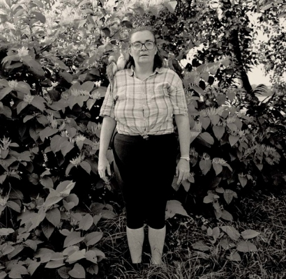 Gary Grenell, Women with Birds on Her Shoulders, 1996 (Inlcuded in the Photo Center NW Print Collection)
