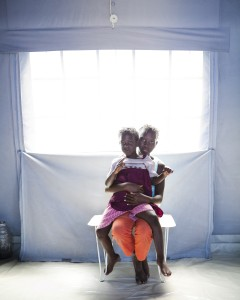 Wyatt Gallery, Sisters in their Tent, Port Au Prince, Haiti, 2010