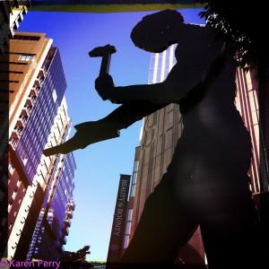 Karen R, Hammering Man-SAM, 2011