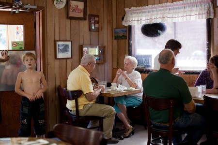 """Nancy LeVine, Cafe Along the Road, from the series """"Escape into America"""" 2009-10"""