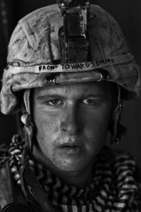 "Louie Palu, U.S. Marine Lcpl. Damon ""Commie"" Connell age 20, Garmsir, Helmand Province, Afghanistan. 2008."