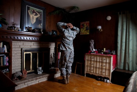 Jeff Sheng, SPC Clio Hill, Home, 2010 (from the series Don't Ask, Don't Tell)