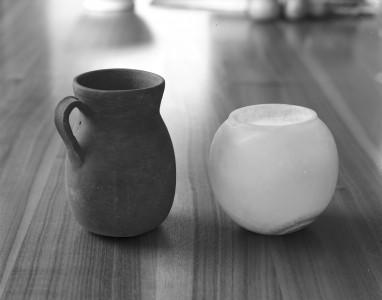 Steve Hanson, Clay cup alabaster lamp