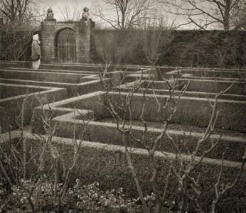 Beth Dow Clearing, The White Garden, Sissinghurst, Platinum/Palladium Print