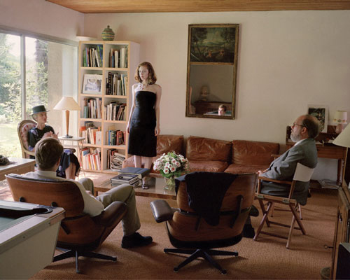 Jessica Todd Harper, Self Portrait with Christopher and My Future In-Laws, 2001.