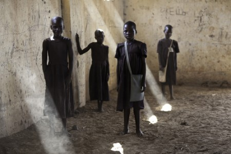 Aciro Milly, Lacot Gladys, Akello Kevin, Lamwaka Sandy, Cwero Primary School, 2009 Archival Pigmented Ink Print © Heather McClintock