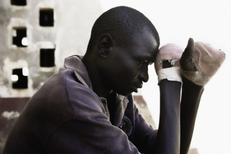 Okwera Richard, Gulu Hospital, 2006 Archival Pigmented Ink Print © Heather McClintock