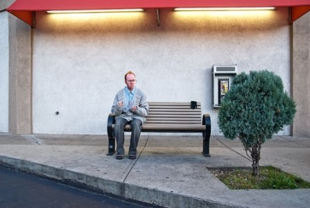 Man with Lottery Ticket, 2007 Archival Inkjet Print © Caleb Cole