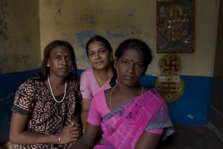 Transgenders in Hindu India - A transgender family, 2009 Digital Print © Jimmy Lam