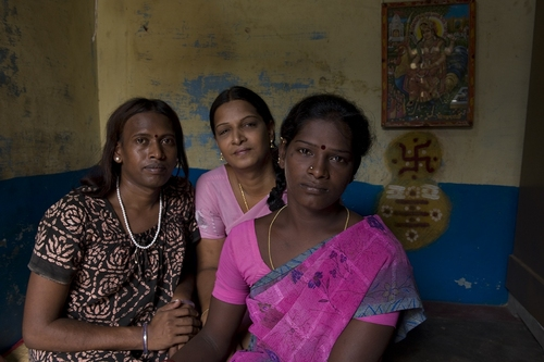 Transgenders in Hindu India - A transgender family, 2009 Digital Print © Jimmy Lam