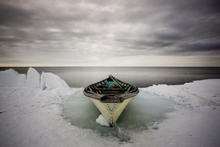 Inupiat Whaling Boat on Pack Ice, 2008 Chromogenic Print © Tim Matsui