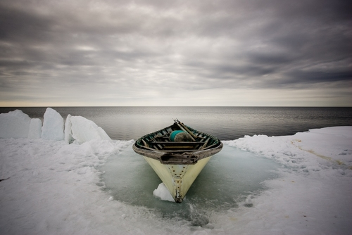 Inupiat Whaling Boat on Pack Ice, 2008 Chromogenic Print © Tim Matsui