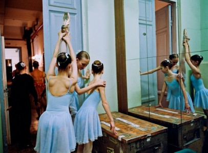 Three 2nd Class Girls Backstage, St. Petersburg, Russia, 2007 Chromira Digital C-Print © Rachel Papo