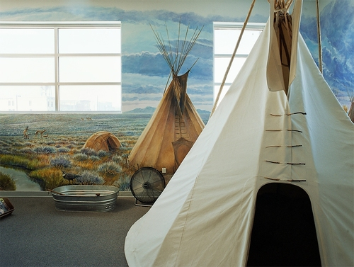 Teepees—Museum of Idaho, 2006 Chromogenic Print © Alexis Pike