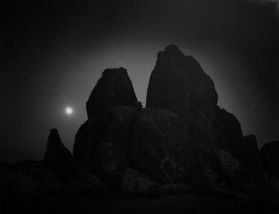 Jahnavi Lisa Barnes, Black Rocks At Night, Alabama Hills near Lone Pine, CA,