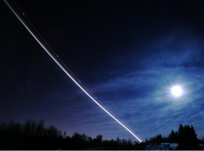 Christina Seely / Man vs Natural Time: SuperMoon + 3:02 am Flight, Anchorage AK, 3.21.11